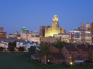 Buffalo City Skyline, New York State, United States of America, North America by Richard Cummins