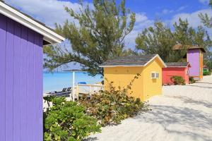 Cabana on Half Moon Cay, Little San Salvador Island, Bahamas, West Indies, Central America by Richard Cummins
