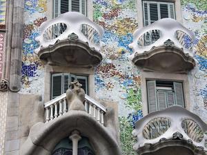 Casa Batllo By Gaudi, Barcelona, Catalonia, Spain, Europe by Richard Cummins