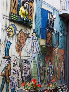 Centro Cultural De Las Artistas, El Caminito Street in La Boca District, Buenos Aires, Argentina by Richard Cummins