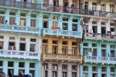 Colonial Architecture on Sule Pagoda Road, Yangon (Rangoon), Myanmar (Burma), Asia by Richard Cummins
