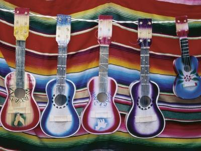 Colorful Guitars Drying