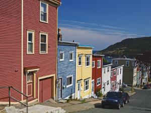 Colourful Houses in St. John's City, Newfoundland, Canada, North America by Richard Cummins