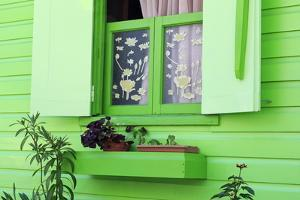 Cottage Window in Roseau, Dominica, Windward Islands, West Indies, Caribbean, Central America by Richard Cummins