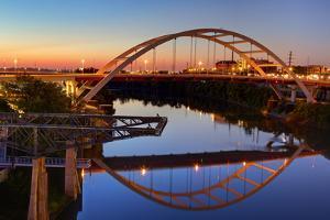 Cumberland River and Gateway Bridge, Nashville, Tennessee, United States of America, North America by Richard Cummins