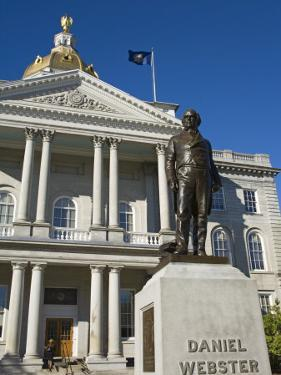 Daniel Webster Statue, State Capitol, Concord, New Hampshire, New England, USA by Richard Cummins