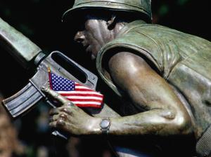 Detail of Vietnam War Memorial, State Capitol Building Grounds, Raleigh, USA by Richard Cummins