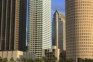 Downtown Skyscrapers, Tampa, Florida, United States of America, North America by Richard Cummins