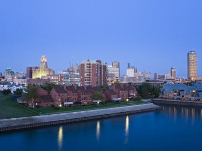 Erie Basin Marina and City Skyline, Buffalo, New York State, USA by Richard Cummins