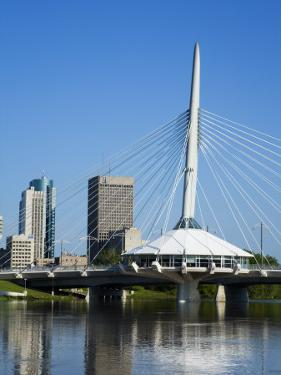 Esplanade Riel Pedestrian Bridge, Winnipeg, Manitoba, Canada, North America by Richard Cummins