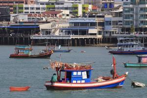 Fishing Boats in Pattaya City, Thailand, Southeast Asia, Asia by Richard Cummins