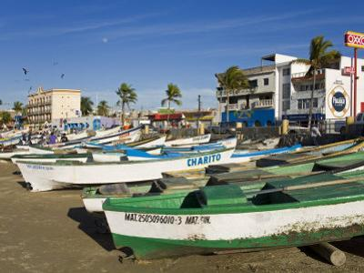 Fishing Boats on Playa Norte, Mazatlan, Sinaloa State, Mexico, North America by Richard Cummins