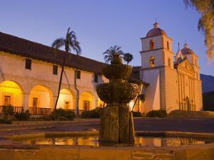 Fountain, Old Mission Santa Barbara, Santa Barbara, California by Richard Cummins