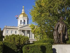 Franklin Pierce Statue, State Capitol, Concord, New Hampshire, New England, USA by Richard Cummins