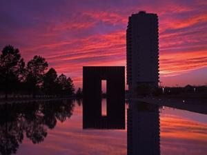 Gate of Time and Reflecting Pool, Oklahoma City National Memorial by Richard Cummins
