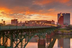 Gay Street Bridge and Tennessee River by Richard Cummins