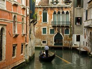 Gondola on Canal in San Marco District by Richard Cummins