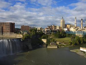 High Falls Area, Rochester, New York State, United States of America, North America by Richard Cummins