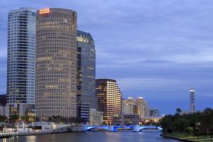 Hillsborough River and Skyline, Tampa, Florida, United States of America, North America by Richard Cummins