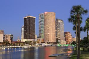 Hillsborough River and Tampa Skyline, Florida, United States of America, North America by Richard Cummins