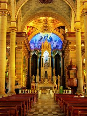 Interior of Cathedral, Mazatlan, Mexico by Richard Cummins