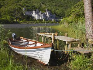 Kylemore Abbey and Lake, Connemara, County Galway, Connacht, Republic of Ireland, Europe by Richard Cummins