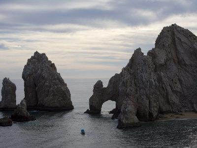 Poster Cabo San Lucas Land/'s End The Arch Sunset Panoramic Fine Art Print Photo