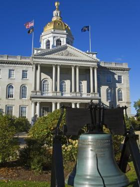 Liberty Bell at the State Capitol, Concord, New Hampshire, New England, USA by Richard Cummins