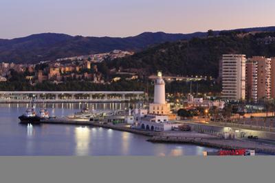 Lighthouse, Malaga, Andalusia, Spain, Europe by Richard Cummins