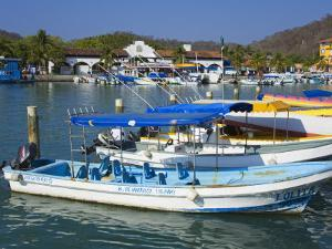 Marina, Santa Cruz Port, Huatulco, Oaxaca State, Pacific Coast, Mexico, North America by Richard Cummins