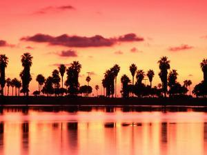 Mission Bay at Sunset, San Diego, California by Richard Cummins
