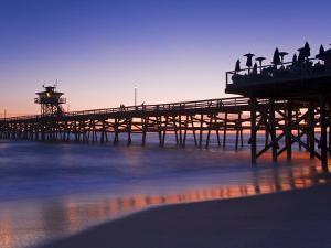 Municipal Pier at Sunset, San Clemente, Orange County, Southern California, USA by Richard Cummins