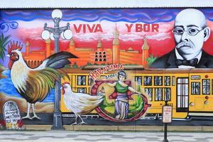 Mural by Chico in Ybor City Historic District by Richard Cummins