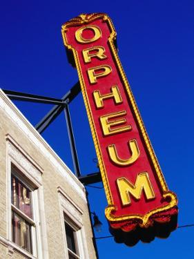 Orpheum Theater Sign, Memphis, Tennessee by Richard Cummins