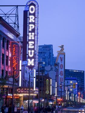 Orpheum Theatre on Granville Street, Vancouver, British Columbia, Canada, North America by Richard Cummins