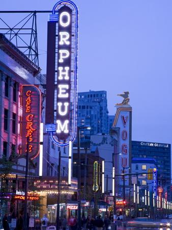 Orpheum Theatre on Granville Street, Vancouver, British Columbia, Canada, North America by Richard Cummins