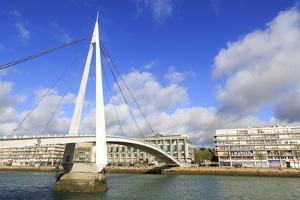 Pedestrian Bridge over the Commerce Basin, Le Havre, Normandy, France, Europe by Richard Cummins