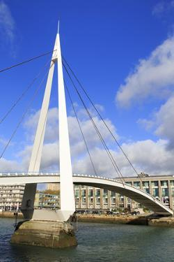 Pedestrian Bridge over the Commerce Basin, Le Havre, Normandy, France, Europe by Richard Cummins