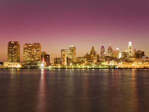 Philadelphia Skyline and Delaware River, Philadelphia, Pennsylvania by Richard Cummins