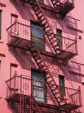 Pink Apartment Building in Soho District, Downtown Manhattan, New York City, New York, USA by Richard Cummins