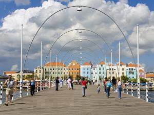 Queen Emma Bridge, Willemstad, Curacao, Netherlands Antilles, West Indies, Caribbean by Richard Cummins