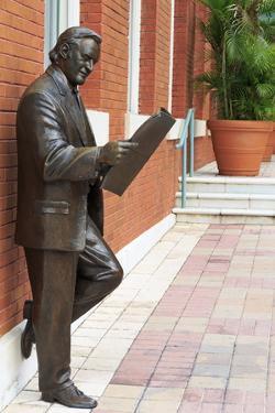 R. Manteiga Statue in Centro Ybor, Tampa, Florida, United States of America, North America by Richard Cummins