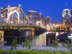 Roberto Clemente Bridge (6th Street Bridge) over the Allegheny River, Pittsburgh, Pennsylvania, Uni by Richard Cummins