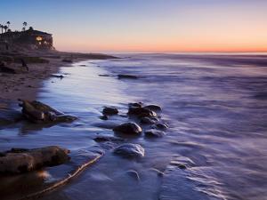 Rocks and Beach at Sunset, La Jolla, San Diego County, California, USA by Richard Cummins