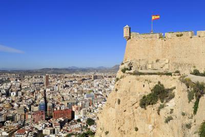 Santa Barbara Castle and city, Alicante, Spain, Europe by Richard Cummins