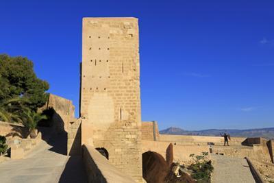 Santa Caterina Tower, Santa Barbara Castle, Alicante City, Spain, Europe by Richard Cummins