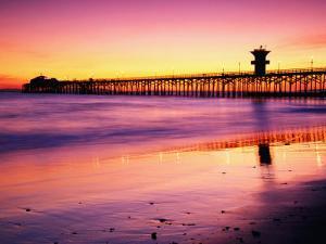 Seal Beach Pier at Sunset, California by Richard Cummins