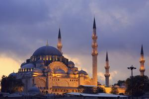 Suleymaniye Mosque, Eminonuand Bazaar District, Istanbul, Turkey, Europe by Richard Cummins