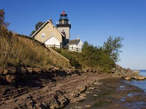 Thirty Mile Lighthouse, Golden Hill State Park, Lake Ontario, New York State, USA by Richard Cummins