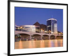 Town Lake and Mill Avenue Bridge, Tempe, Greater Phoenix Area, Arizona by Richard Cummins